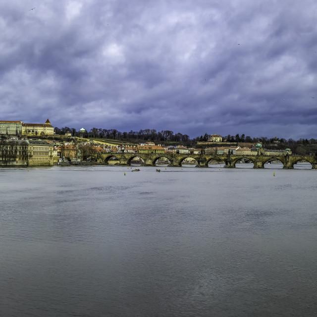 """Prague city view"" stock image"