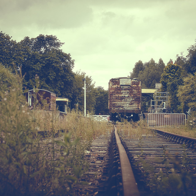 """An old train line in Norfolk"" stock image"