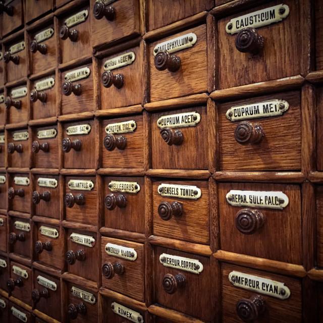 """Antique Medicine Cabinet"" stock image"
