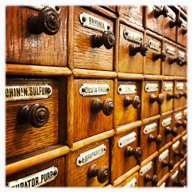 """""""Vintage Medicine Cabinet"""" stock image"""