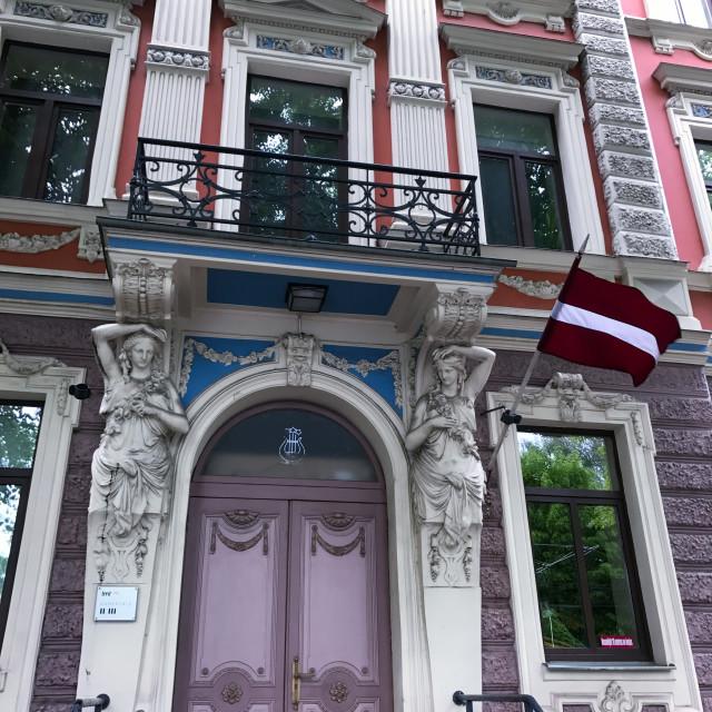"""Riga Art Nouveau"" stock image"