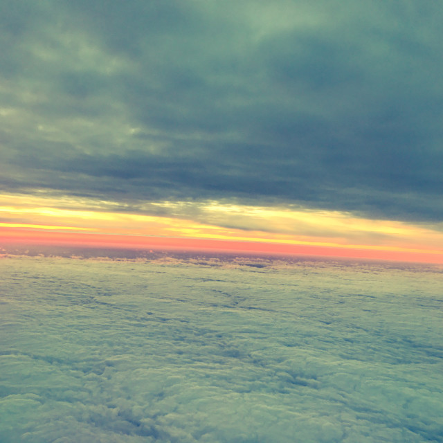 """Plane Sunset"" stock image"