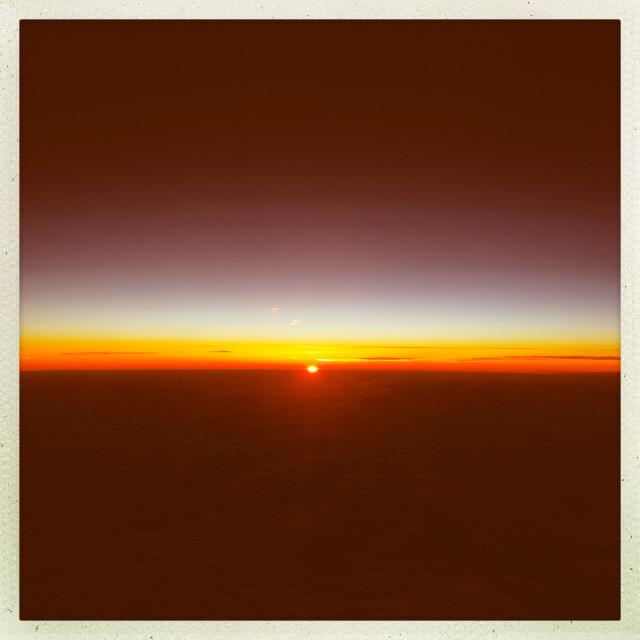 """Pinprick Sunset"" stock image"