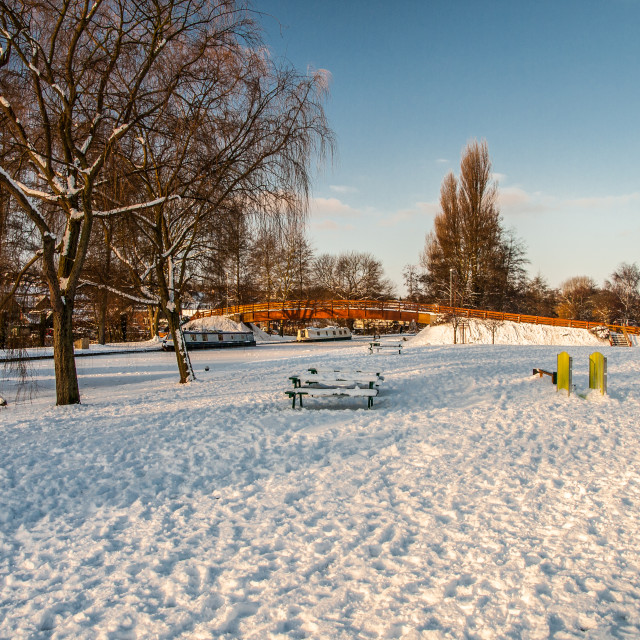 """""""Grand Union Canal in Winter"""" stock image"""
