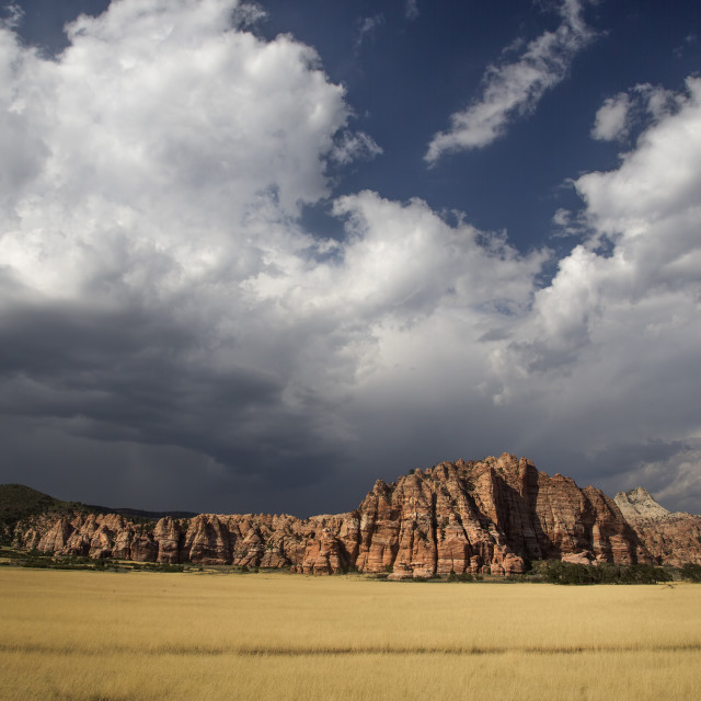 """""""Zion Cave Valley"""" stock image"""