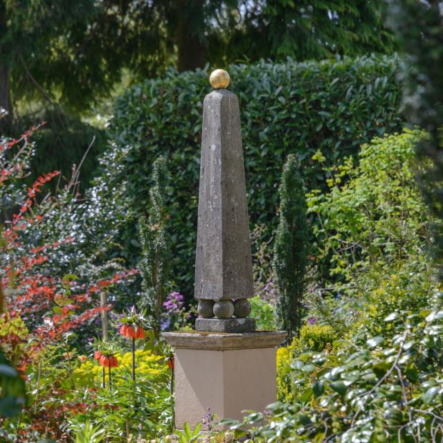 """Garden Obelisc"" stock image"