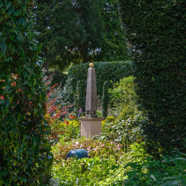 """""""Garden Obelisk"""" stock image"""