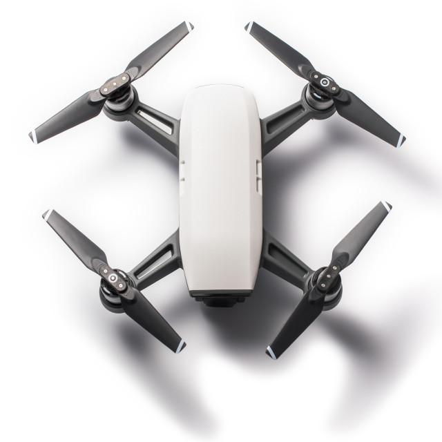 """Mini drone isolated on white"" stock image"
