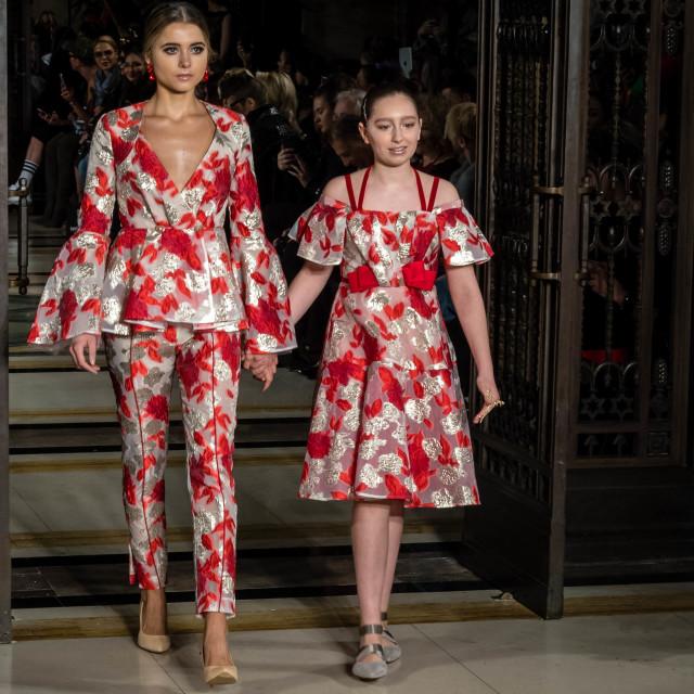 """""""London Fashion Week 2018, AW18"""" stock image"""
