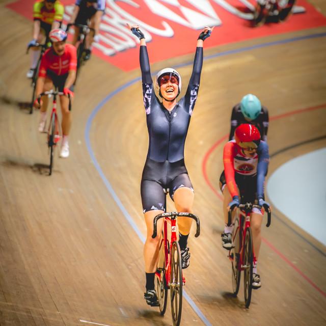 """""""The Winner is Katie Archibald"""" stock image"""