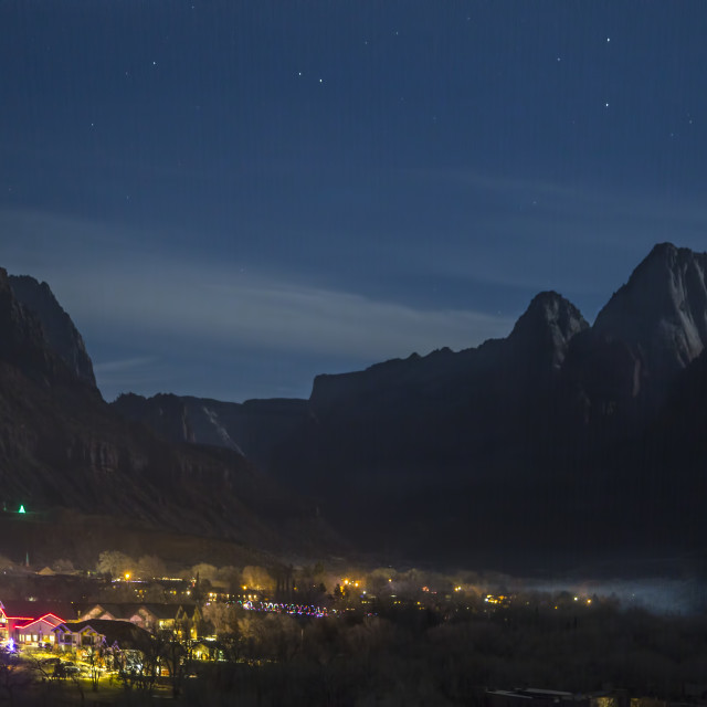 """""""Zion at Night"""" stock image"""