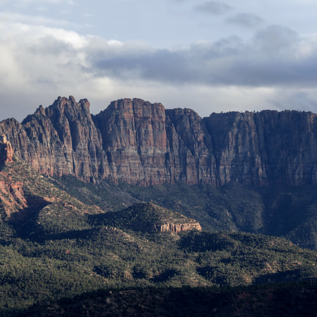 """""""Zion Eagle Crags"""" stock image"""