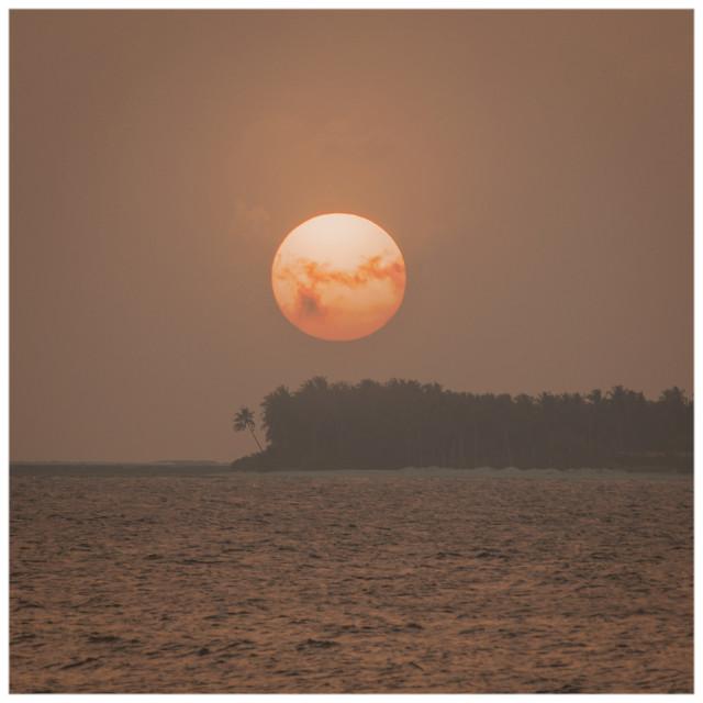 """""""Niyama Sunset"""" stock image"""