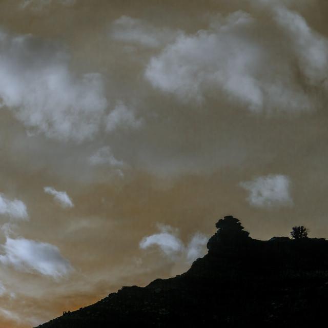 """Zion Canyon Sunset"" stock image"