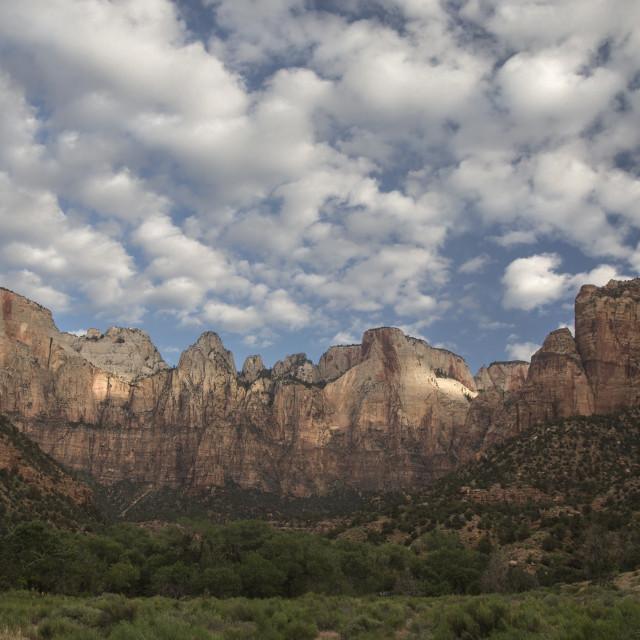 """""""Zion Canyon Sunrise"""" stock image"""