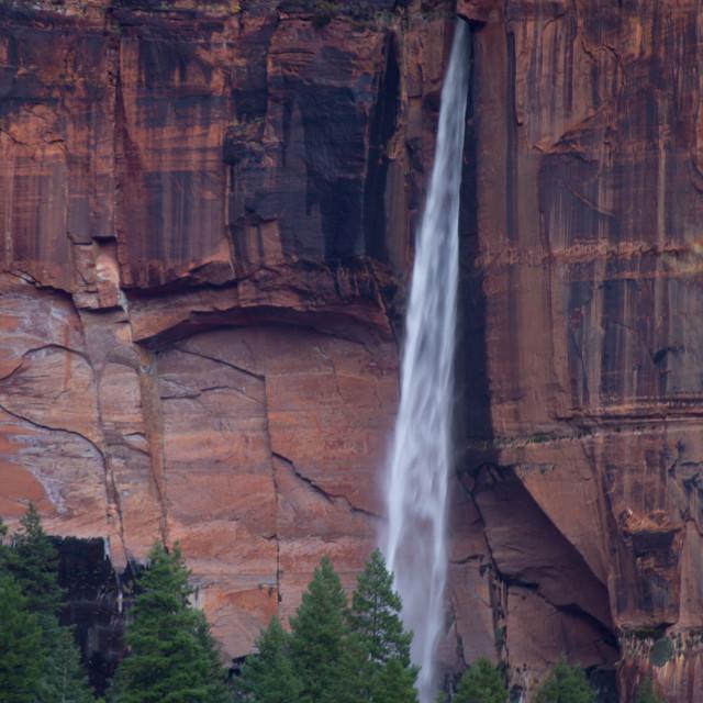 """""""Zion Waterfall"""" stock image"""