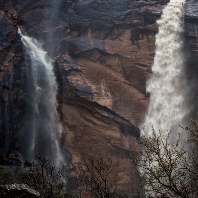 """Zion Waterfall"" stock image"