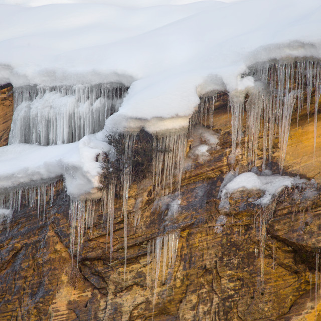 """Zion Winter"" stock image"