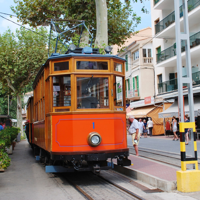 """The Soller trams in Majorca"" stock image"