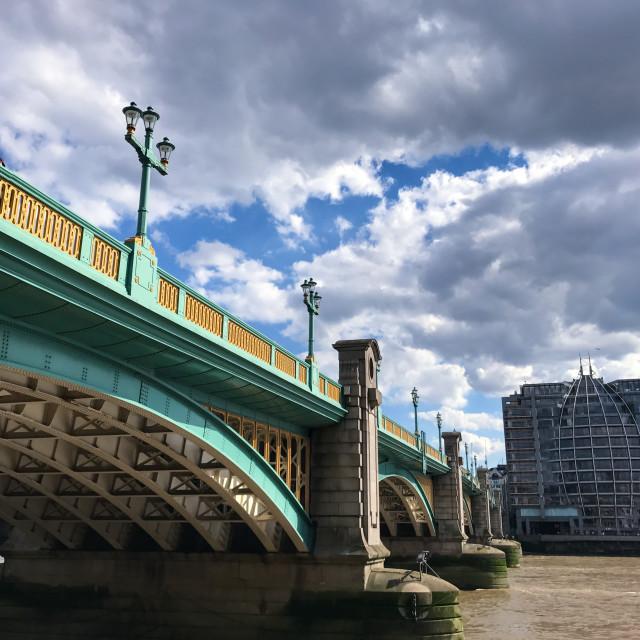 """Bridge on the River Thames"" stock image"