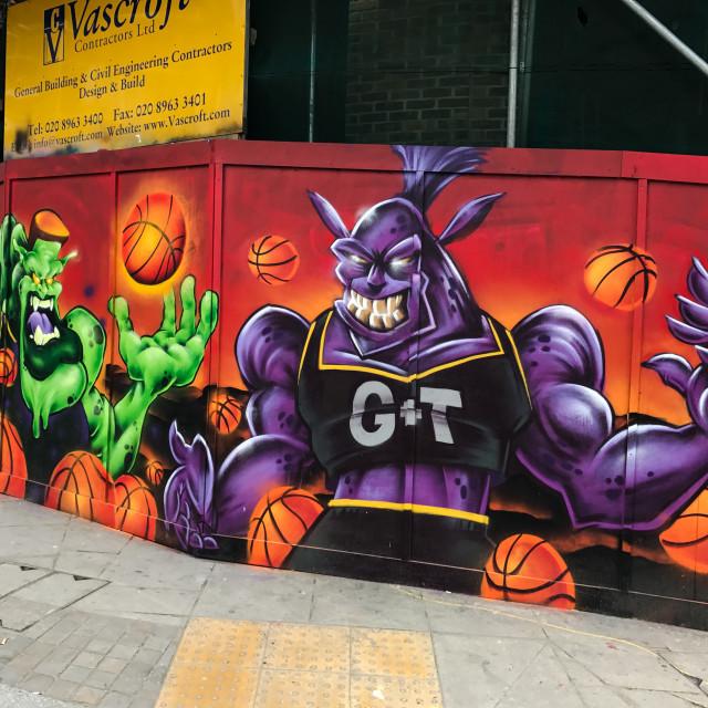 """""""Shoreditch Graffiti"""" stock image"""