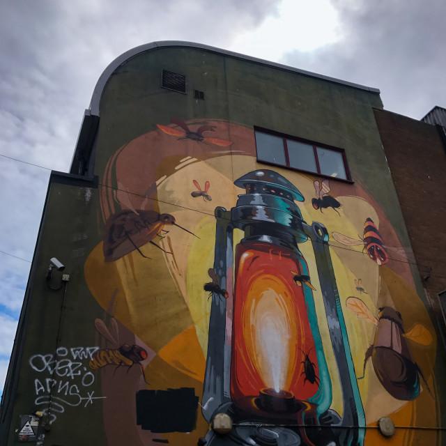 """Brighton Graffiti Lantern"" stock image"