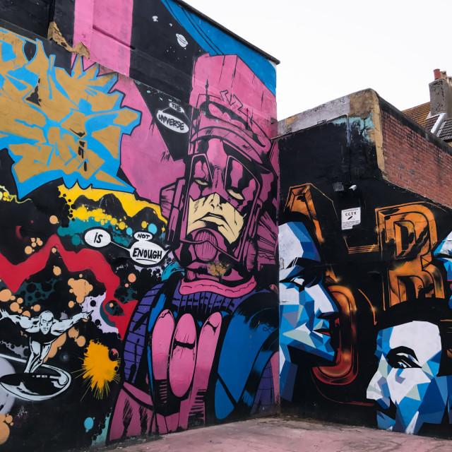 """Brighton Pop Graffiti"" stock image"