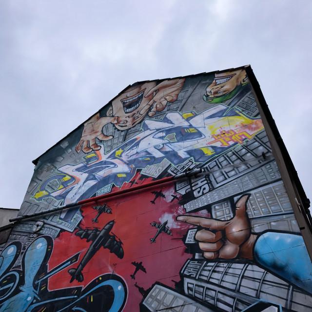"""Brighton Street Art"" stock image"