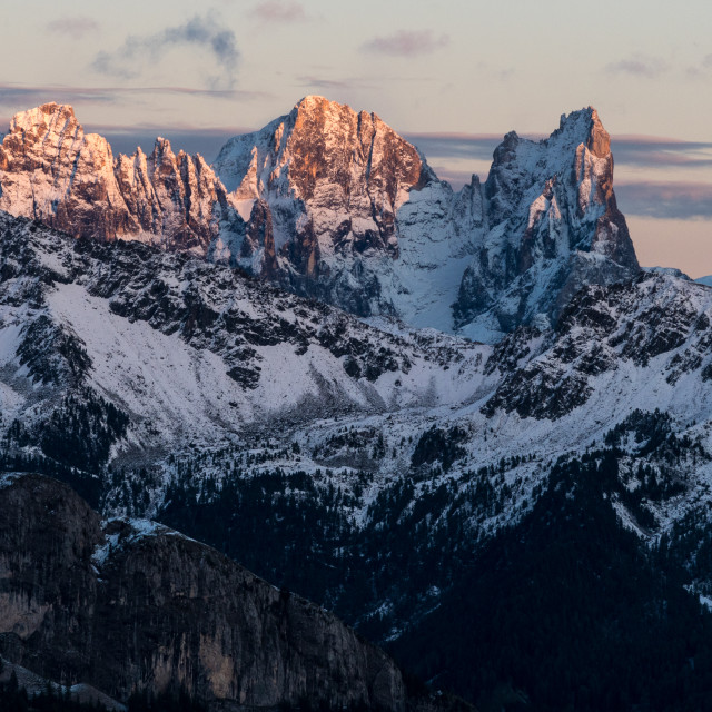 """Last Light Over the Dolomites"" stock image"