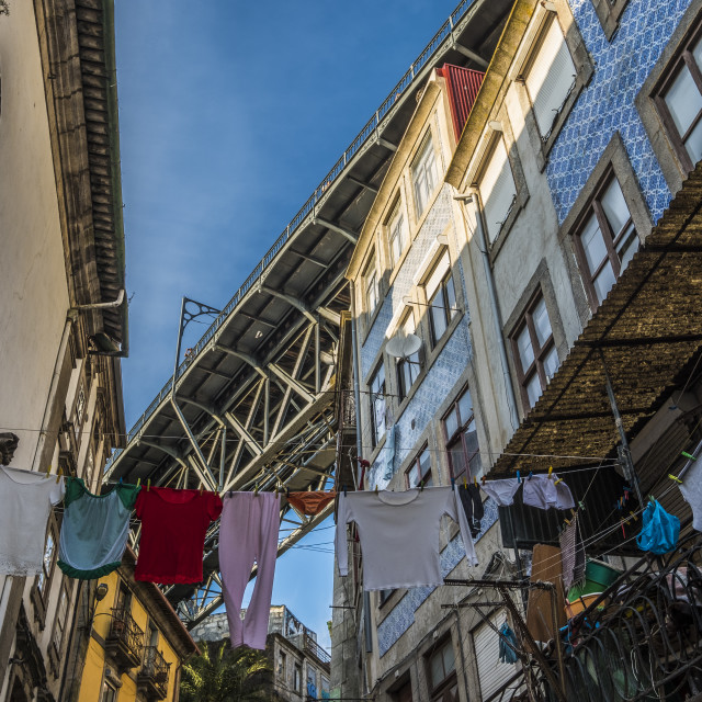 """Typical streets in the center of the city of Porto"" stock image"