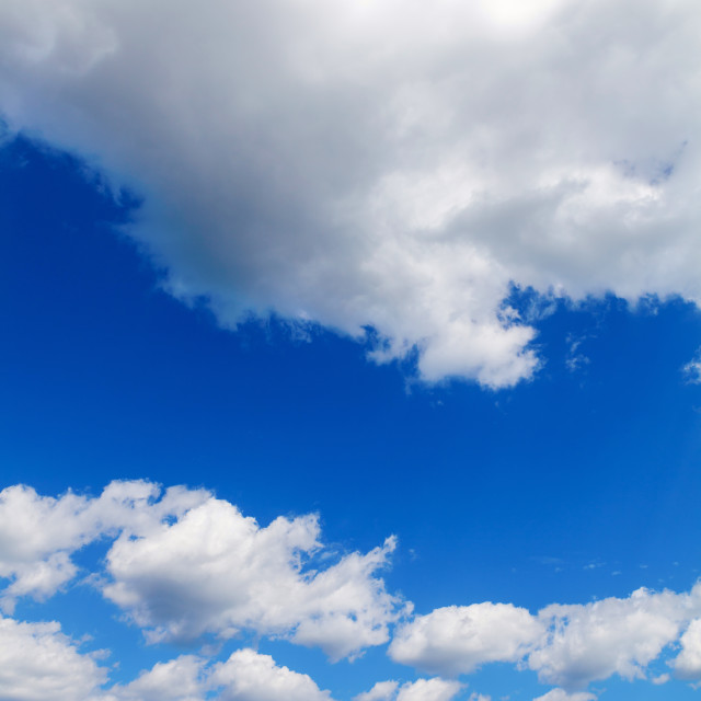 """Blue sky with white clouds natural background"" stock image"