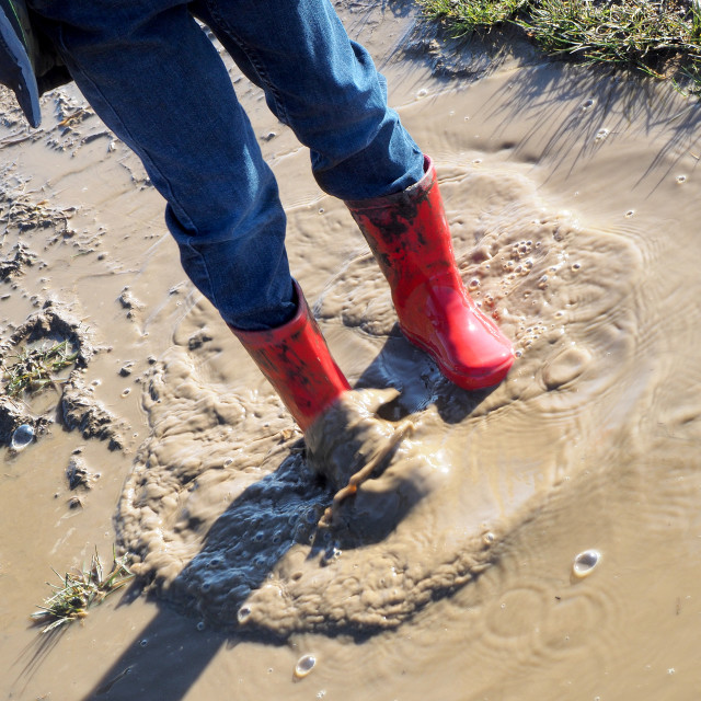 """""""Red Wellies"""" stock image"""