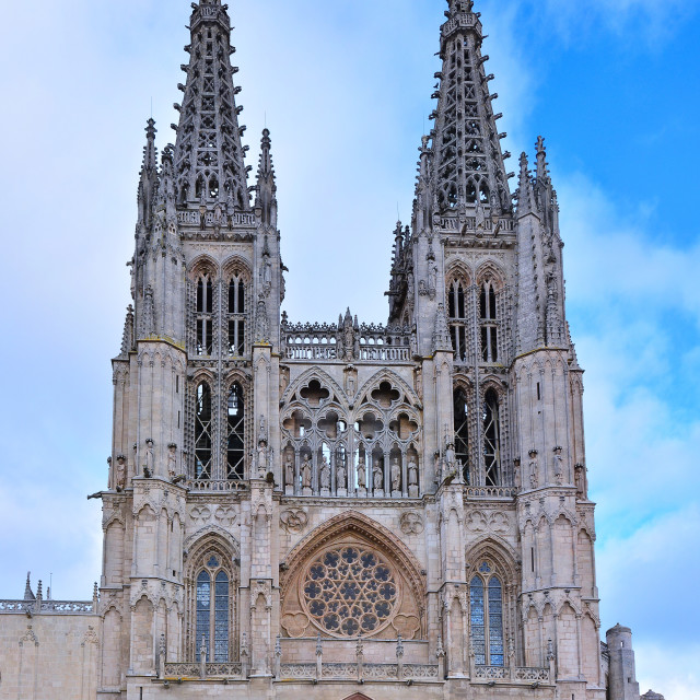 """Burgos Cathedral in the day light, Spain."" stock image"