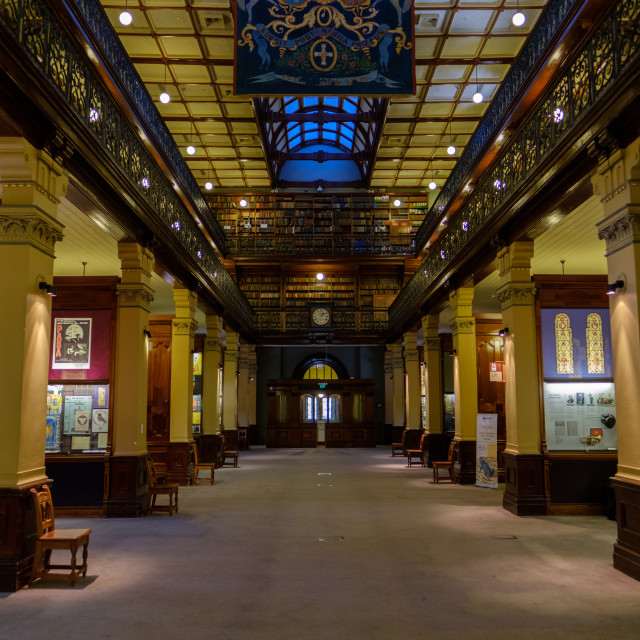 """""""Adelaide Library, Mortlock Wing"""" stock image"""