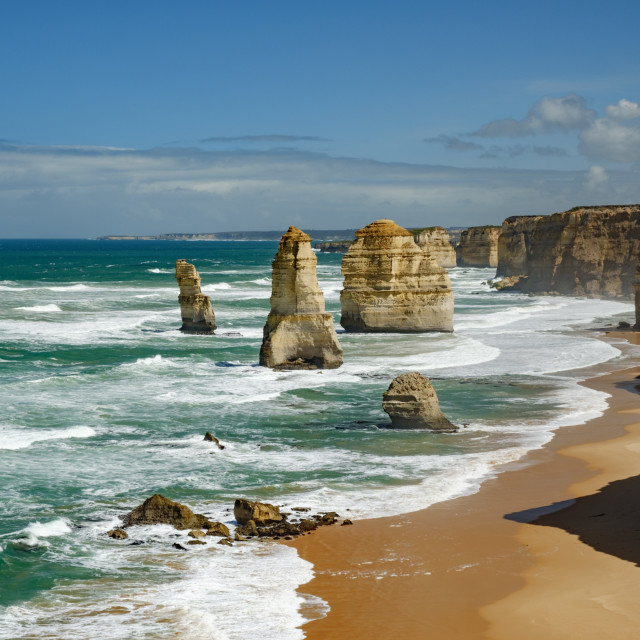 """Twelve Apostles rock formation in the daytime, Australia"" stock image"