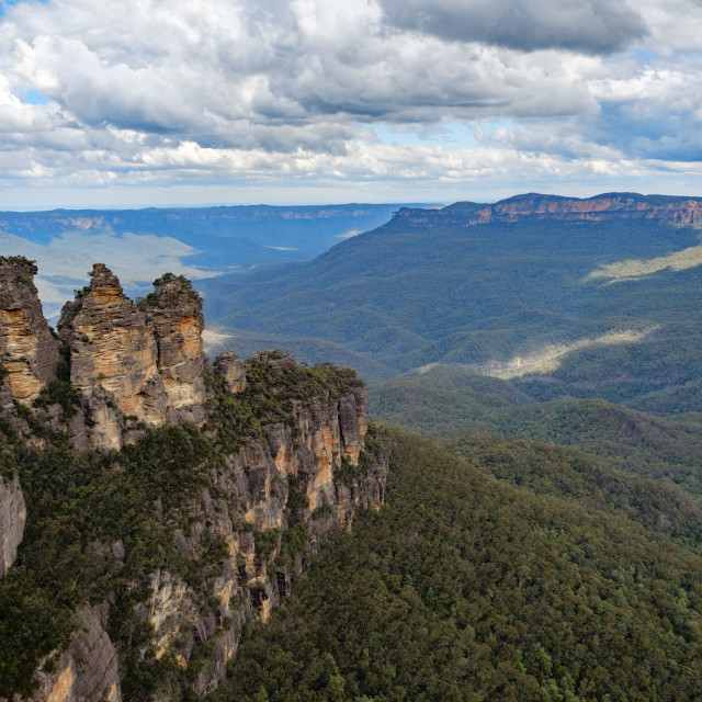 """""""Three Sisters rock formation"""" stock image"""