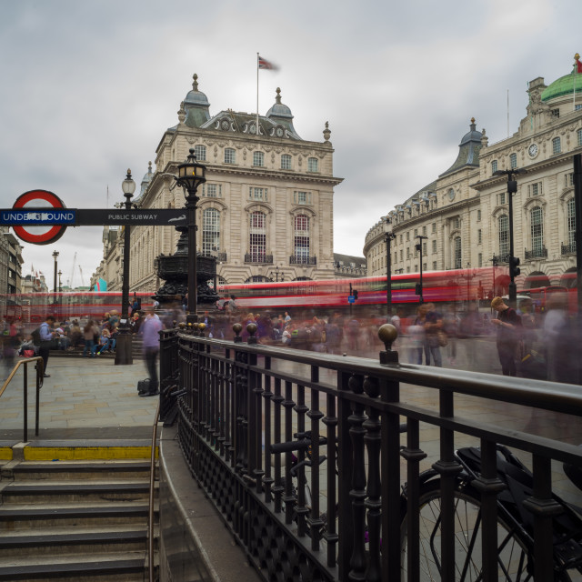 """""""Busy Picadilly Circus"""" stock image"""