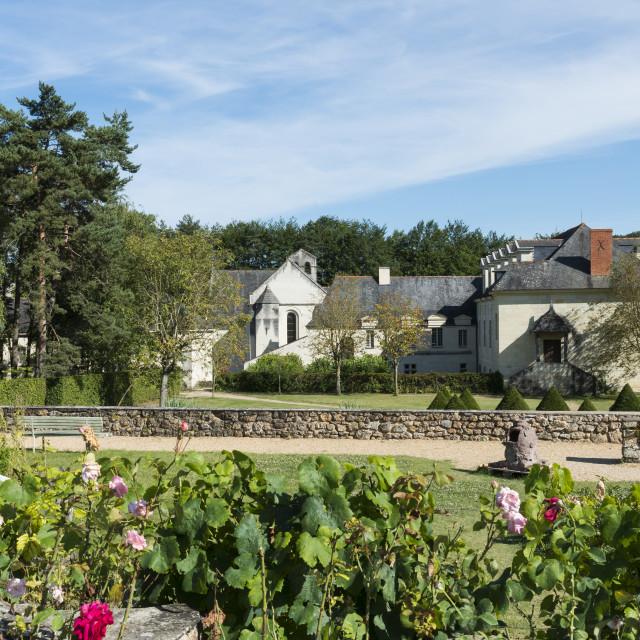 """Garden of abbey Fontevraud"" stock image"