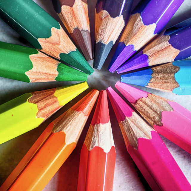 """Colored pencils to dream"" stock image"