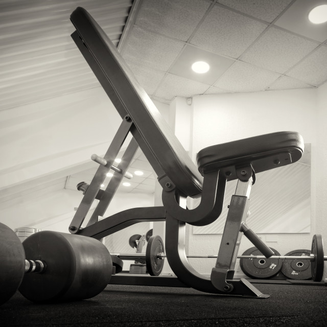 """Gym room interior"" stock image"