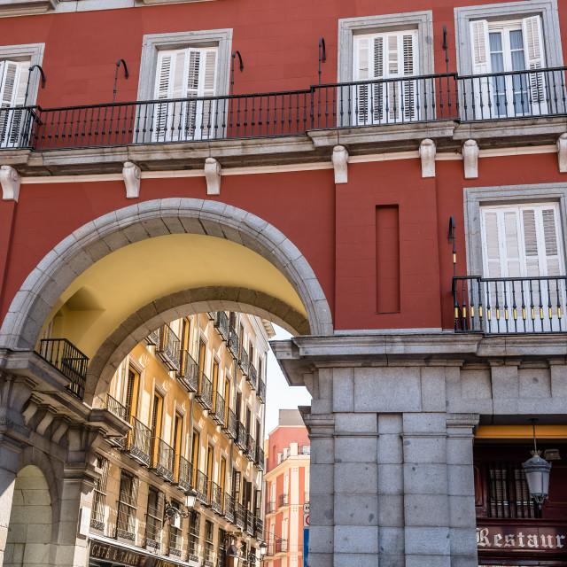 """Plaza Mayor in Madrid"" stock image"