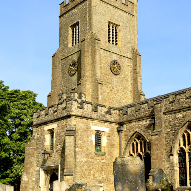 """English village church"" stock image"