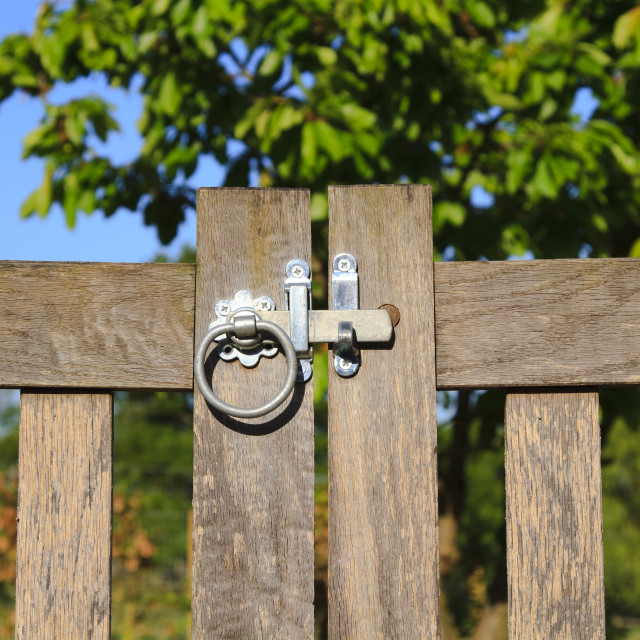 """""""Closed latched gate"""" stock image"""
