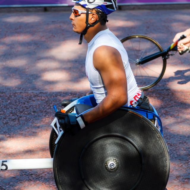 """Paralympic Laurens Molina Sibaja"" stock image"