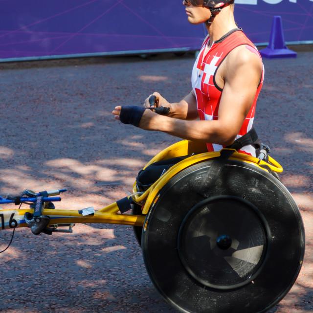 """Marcel Hug Paralympics London"" stock image"