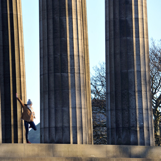 """Strike a pose - National Monument of Scotland"" stock image"