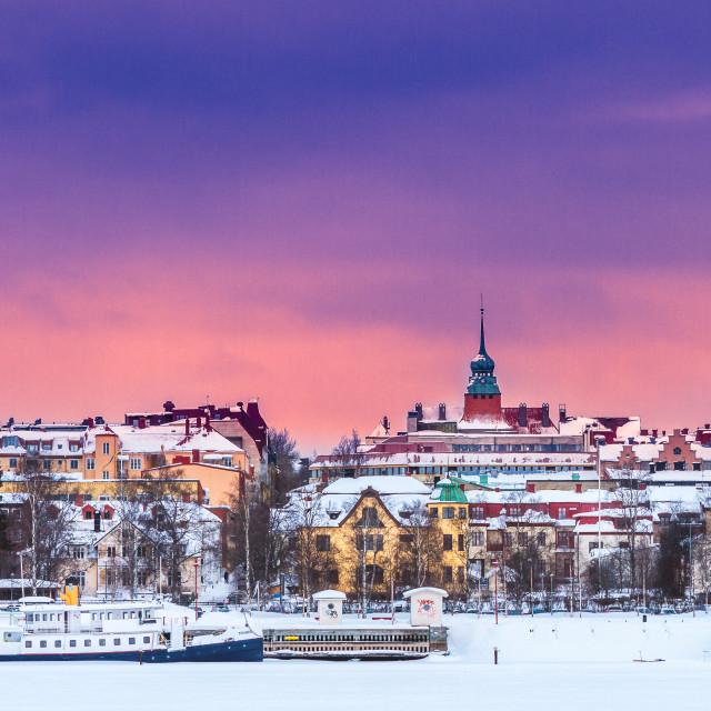 """Östersund Sweden in the winter"" stock image"