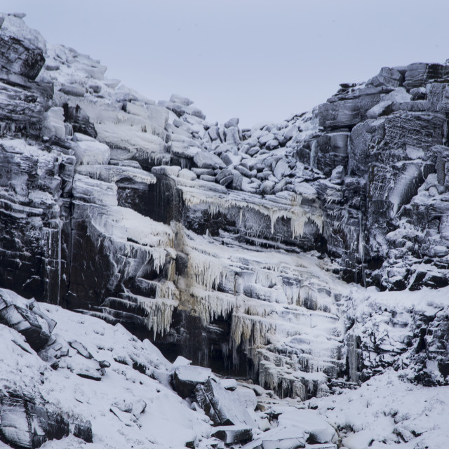 """Frozen Kinder Downfall waterfall"" stock image"