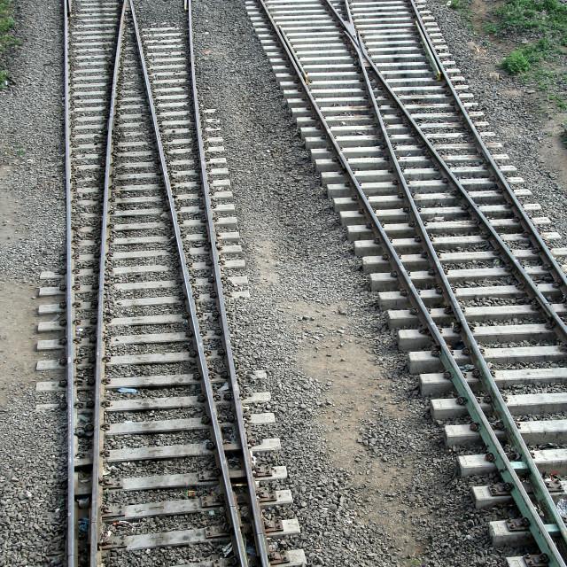 """Maze of Tracks"" stock image"