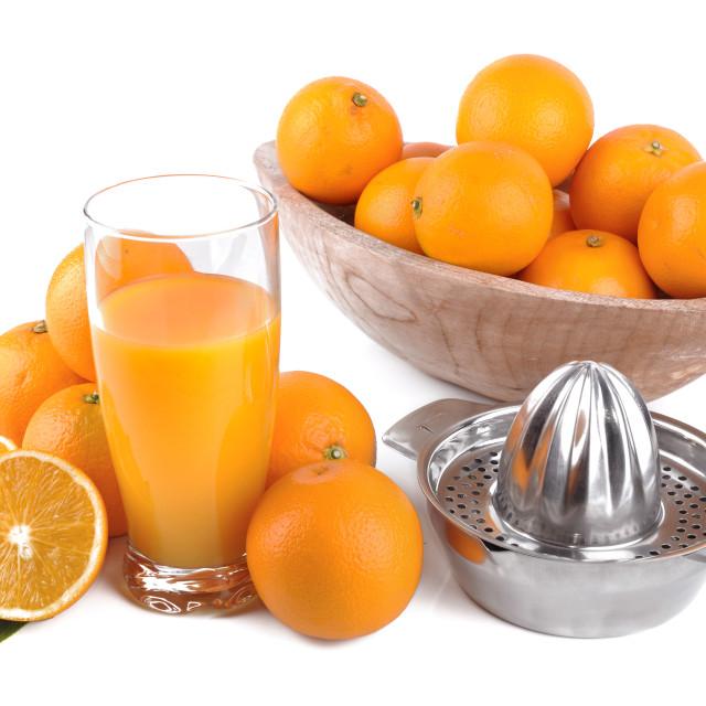 """orange juice, fruits and press citrus"" stock image"